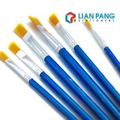 Paint Brush Flat Brush 6 Sizes in One Set